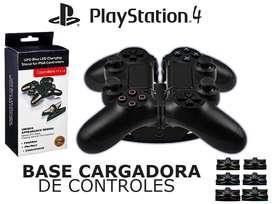Base De Carga Controles Playstation 4 Carga Dual Led 0visitas 0ventas