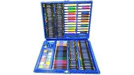 Set Arte Unisex Maleta Azul X 168 Piezas Crayon Oleo Plumon Colores