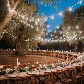 Alquiler de cadenas de bombillas y luces vintage para bodas en cartagena