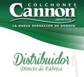 VENTA DE COLCHONES DIRECTO DE FABRICA CANNON