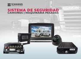 Sistema de Seguridad para Camiones, Buses, Linea Amarilla OZ Tunning. Cámaras de Retroceso | Pantallas | GPS | DVR