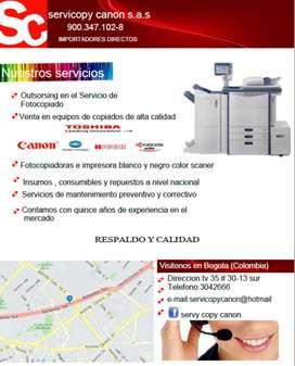 Servicio de Alquiler de Fotocopiado y Venta de Equipos