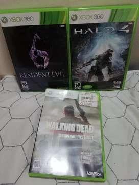 Juegos Xbox 360 Resident Evil, Halo 4, Walking Dead