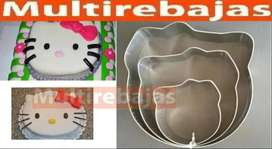 Antiadherente Moldes De Hello Kitty 3 Piezas