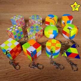 Llaveros Mini Cubo Rubik 2x2 3x3 Buen Giro Stickerless