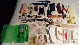 Articulos De Pesca (cuchillos, Anzuelos, Lineas) Combo