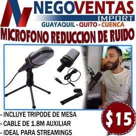 MICROFONO CONDENSADOR  PORTATIL REDUCCION DE RUIDO