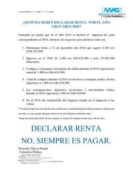 DECLARE RENTA