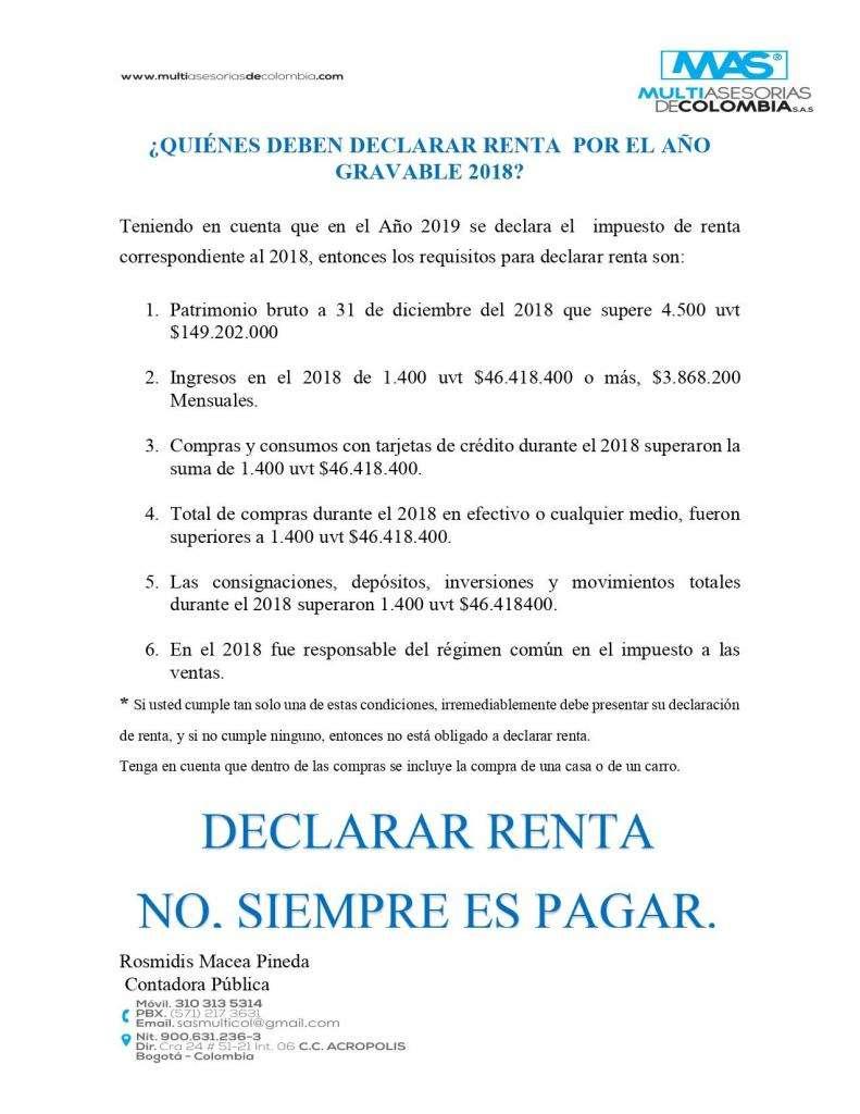 DECLARE RENTA 0