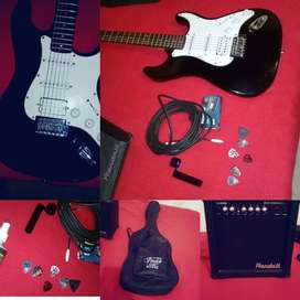 Vendo guitarra vorson tipo stratocaster utilizada por 1 año. Perfecto estado.