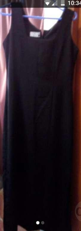 Vestido M Largo Negro