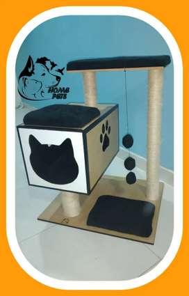 Hermosos gym para gatos artesanales