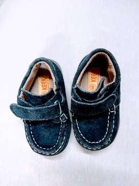 Zapato NUEVO Mocasin Keek 18 Gamusa Azul  Perfect