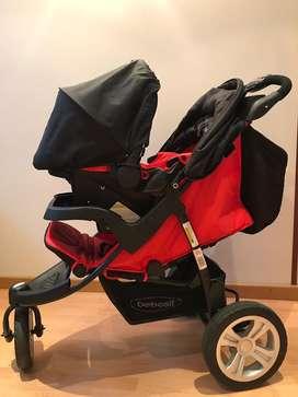 Coche con silla vehiculo Bebesit
