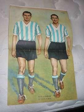 ANTIGUA REVISTA EL GRAFICO 940 LAMINA ZITO Y GARCIA RACING CLUB 1937 TAPA POLO HERIBERTO DUGGAN