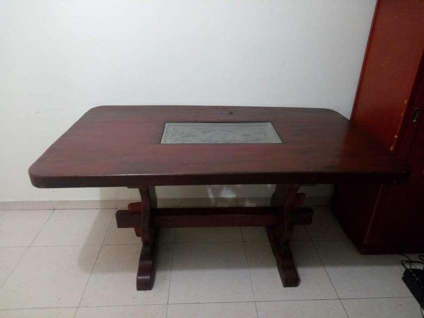 excelente mesa comedor  cedro mas 4 sillas remate 0