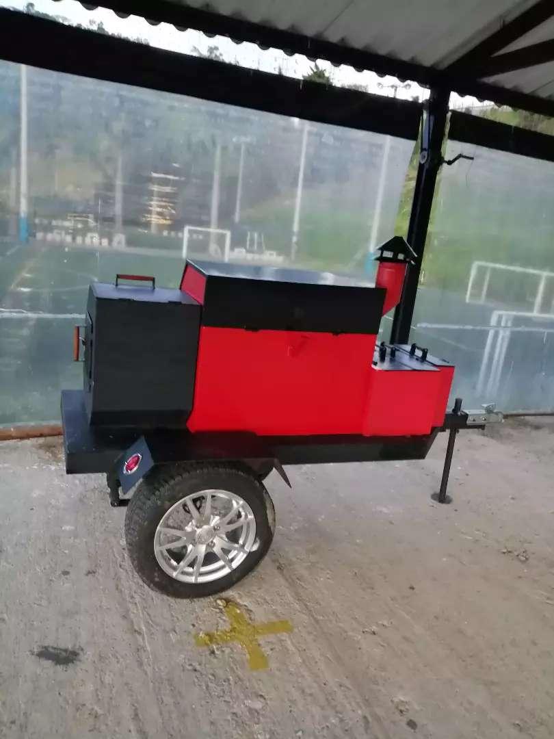 Asador tipo americano/ food truck