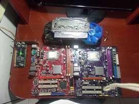 dos placas madre 775+disco duro de 150gb+1gb de ram+ dos procesadores y mas