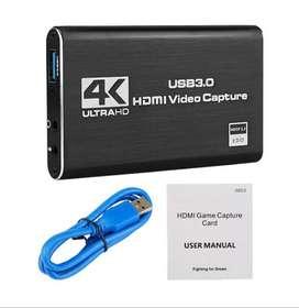 Tarjeta captura vídeo 4K HDMI, USB 1080, captura de juegos OBS, Modelo Premium