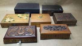 Selección de Cajas y Cofres Antiguos De Madera