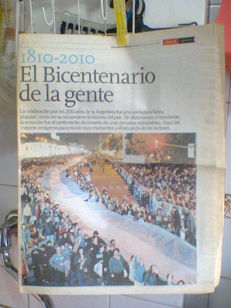 Suplemento Diario Clarin El Bicentenario de la gente! 0