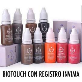 Pigmentos biotouch con registro invima