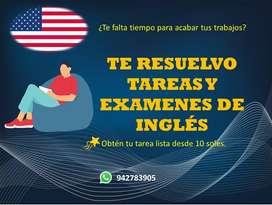 SE RESUELVEN EXAMENES Y TRABAJOS DE INGLES(TODOS LOS NIVELES)