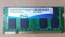 SODIMM 2GB DDR2 667 2G X16 ADATA