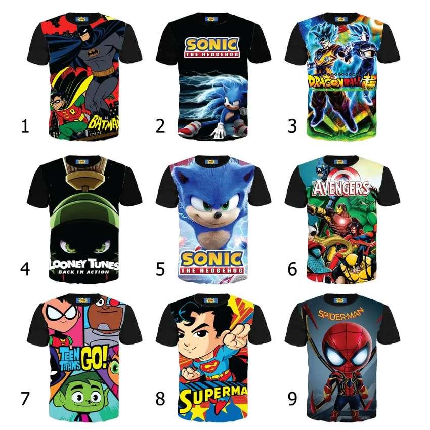 Camisetas para niño al mayor y detal 0