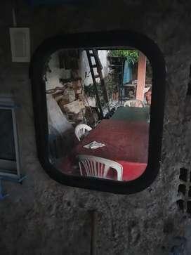 Espejo 40 x 50 cm marco negro hurlingham