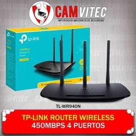 Tp-Link Router Wireless 450mbps 4 Puertos TL-WR940N CAMVITEC segunda mano  Perú