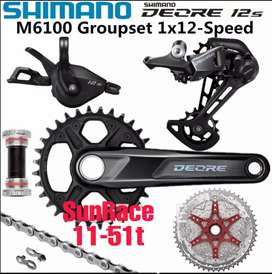 SHIMANO DEORE M6100 1×12 speed groupset