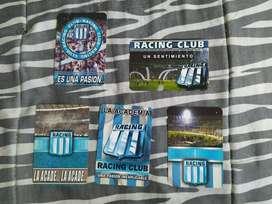 lote de almanaque de racing club decada del 2000