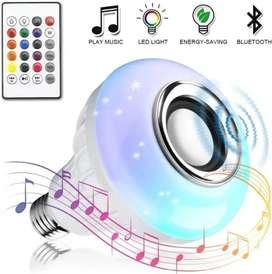 Foco Parlante Bluetooth luz blanca y rgb