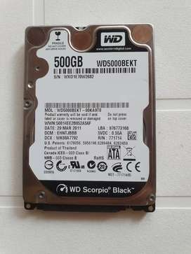 Disco duro portatil 500 Gb WD