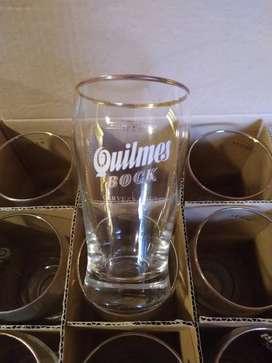 Vasos Quilmes vidrio importado