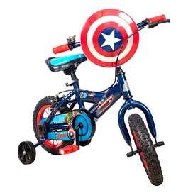Bicicleta Niño Rin 12 Pulgada Disney Capitan América