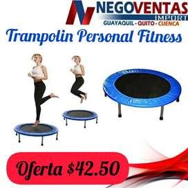 Trampolin personal fitness para ejercitar en casa fácil y rápido