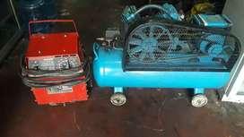 Bendo suelda lincor 225 amperage y compresor de 3 H P
