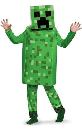 Disfraz de Minecraft de Creeper, S (4-6)