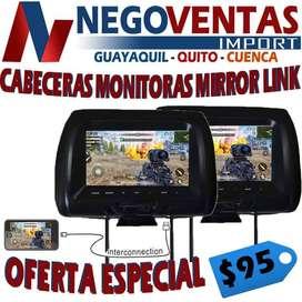 CABECERAS MONITORAS DE 7 PULGADAS CON MIRROR LINK