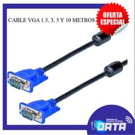 CABLE VGA 1.5, 3, 5 Y 10 METROS