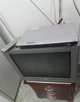 TV LG + MESA+ DVD