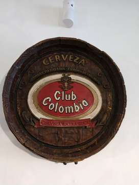Letrero Club Colombia Cerveza Antiguo