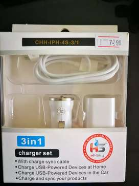 Car charge set 3 in 1