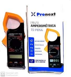 Pinza amperometrica digital