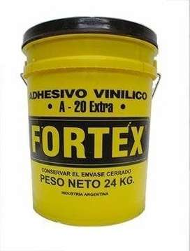 Adhesivo Vinilico / Cola Vinilica Fortex A-20 X24 Kg