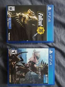 Monster Hunter World y Fallout 76