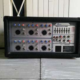 consola 6 canales con Ecualizador Grafico Hi-tronic Pm-608A-MP3