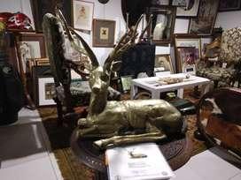 Escultura bronce venado Grande certificado